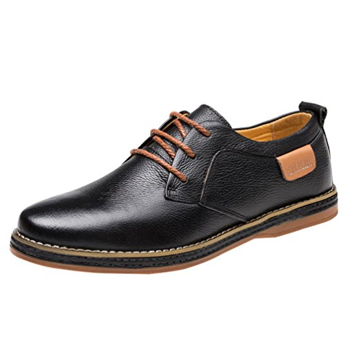 Freerun Men's British Style Modern Lace-up Business Dress Leather Oxfords (10 B(M)US,black) (Running Spike Plugs compare prices)