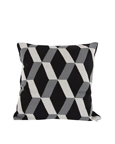 A&B Home Cotton Hexagon Pillow, Black