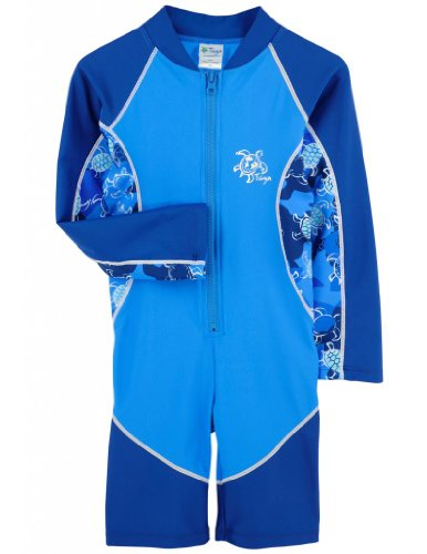 Tuga Boys High Tide L/S Sunsuit (Upf 50+), Sapphire, 6/7 Yrs front-909421