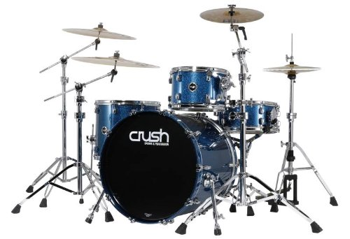 Crush Sublime Tour Maple 4 Piece Drum Set, Shell Pack, Blue Sparkle, SMT428608