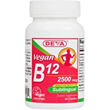 buy Deva Vegan Vitamins Sublingual B12 - 2500 Mcg - 90 Tablets