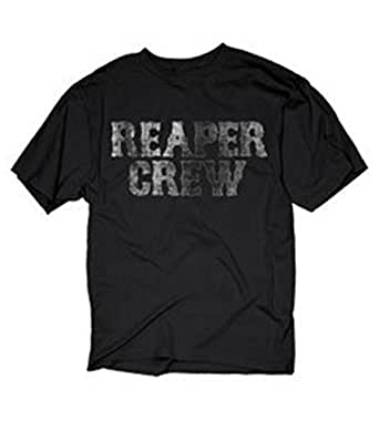 sons of anarchy stacked reaper crew t shirt pour adulte. Black Bedroom Furniture Sets. Home Design Ideas