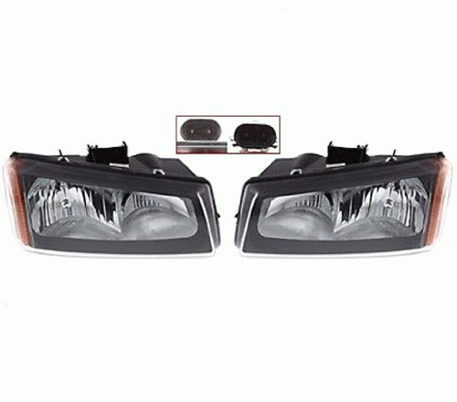 Discount Starter and Alternator GM2503257 GM2502257 Chevrolet Silverado Replacement Headlight Pair Plastic Lens With Bulbs (Alternator Chevrolet Silverado compare prices)
