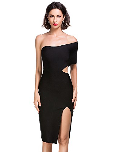 alice-elmer-womens-rayon-off-shoulder-cut-out-slit-club-vestido-black-m