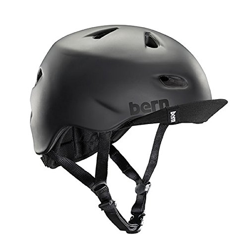 Bern Unlimited Brentwood Summer Helmet with Flip Visor, Matte Black, XX-Large/3X-Large
