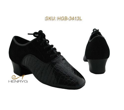 HenryG Men's Dance Shoes, Snake Print Patent Latin Dance Shoes HGB-3413L