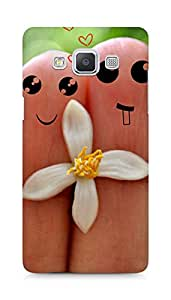 Amez designer printed 3d premium high quality back case cover for Samsung Galaxy A5 (Cute Love Cartoon Couple Fingers)