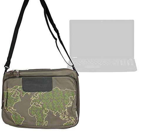 duragadget-besace-motifs-voyage-monde-vert-kaki-pour-ordinateurs-portables-toshiba-cb35-a3120-chrome