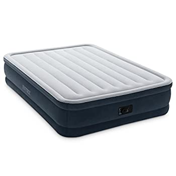 Intex Dura-Beam Series Elevated Comfort Airbed with Built-In Electric Pump, Bed Height 16