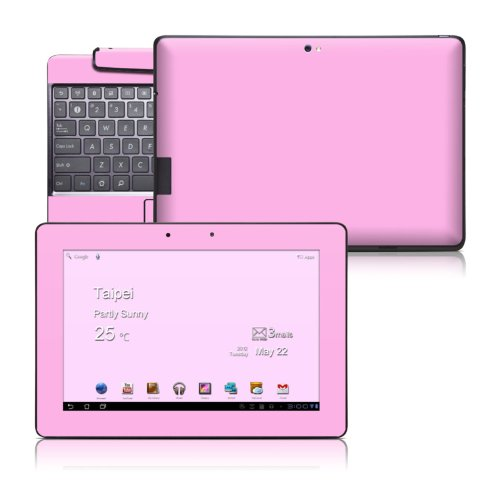 Solid State Pink Design Skin Decal Cover Sticker for Asus Transformer Prime TF201 Tablet and Keyboard Dock Station