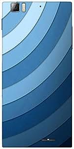 Snoogg Sound Waves Designer Protective Back Case Cover For Lenovo A6000