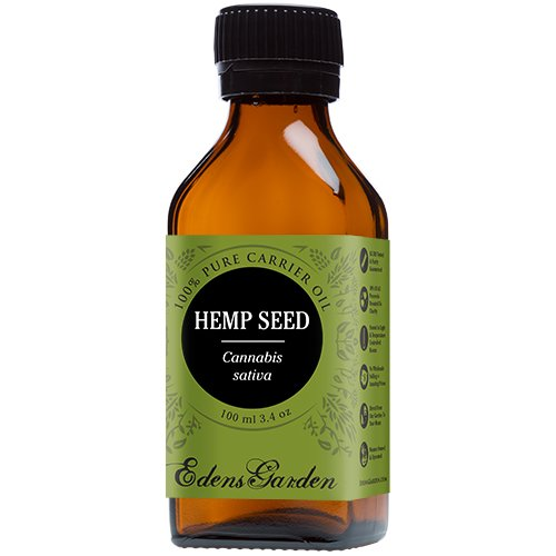 Hemp Seed 100% Pure Carrier/ Base Oil- 3.4 oz (100 ml) by Edens Garden