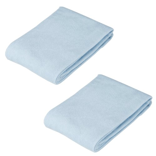 American Baby Company Knitted Cotton Terry Flat Changing Table Cover, 2 Pack - Blue