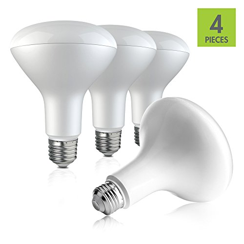 LED Light Bulb BR30 - Daylight 5000K - 9W Bulbs - 60 Watt Equivalent (Pack of 4)