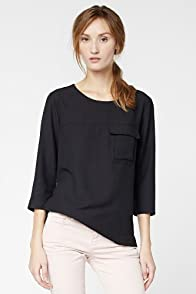 Sleeve Safari Pocket Top