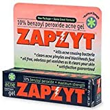 Zapzyt Maximum Strength 10% Benzoyl Peroxide Acne Treatment Gel, 1 Ounce