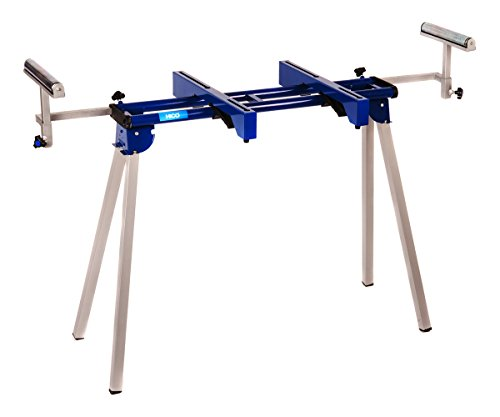 HICO UWC1201 Folding Miter Saw Stand with Machine Mounts and Material Roller Supports