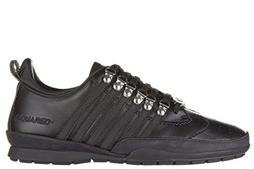 Dsquared2 Herrenschuhe Herren Leder Schuhe Sneakers 251 Schwarz EU 43 W16SN131 912 M084 thumbnail