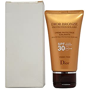 Christian Dior Bronze Beautifying Protective Suncare Hight Protection SPF 30 for Face, 1.7 Ounce