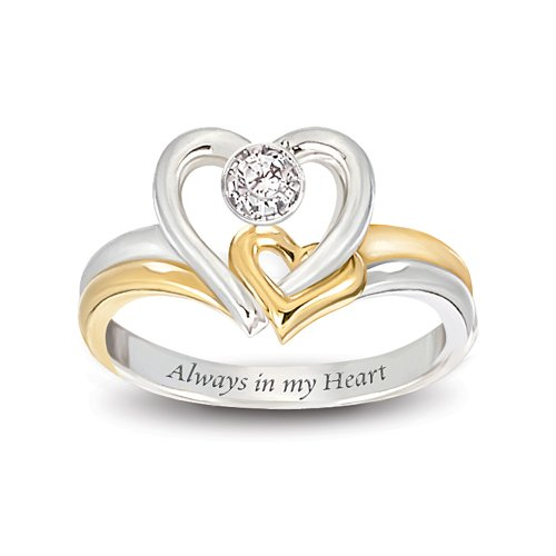 Special For Always In My Heart Engraved Heart Shaped Diamond