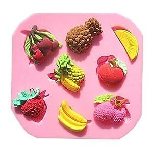 Amazon.com: All U?Want Pineapple Strawberry Banana Fruit Combo Fondant