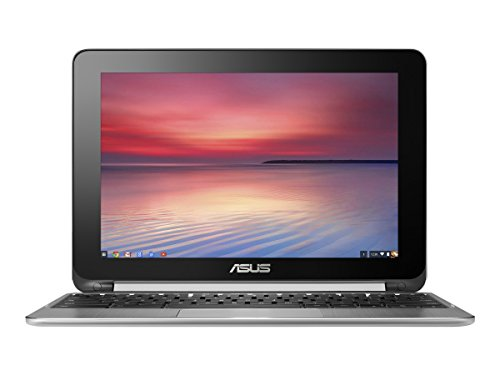 ASUS Chromebook Flip 10.1-Inch Convertible 2 in 1 Touchscreen (Rockchip, 4 GB, 16GB SSD, Silver)