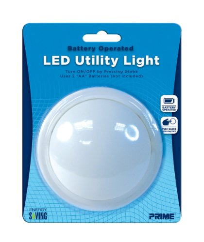 Prime Wire & Cable Nlples1 Push Night Light With Led Lamp, 1-Pack