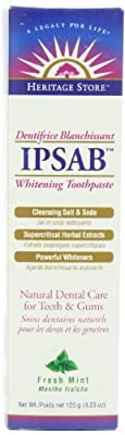 Heritage Store IPSAB Whitening Toothpaste, 4.23 Ounce