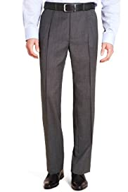 Supercrease® Active Waistband Micro Structured Trousers with Wool [T18-3917-S]