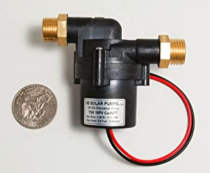 3 GPM / 11.5 LPM - 12V Solar Hot Water Pump - Can be run by a 15W solar panel