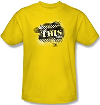 Taxi - Flag This Men's T-Shirt, Yellow, Small
