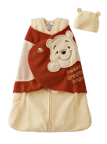 HALO SleepSack Micro-Fleece Newborn Disney Swaddle, Pooh with Hat