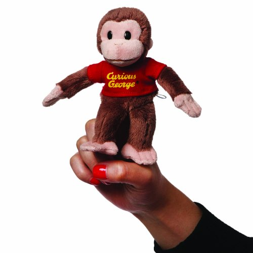 Gund Curious George Finger Puppet Stuffed Animal - 1