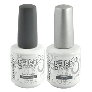 Gelish .5 Base & Top Coat Gel SET Harmony Nail Salon UV Manicure Polish Soak Off