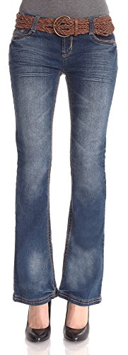 WallFlower Juniors Belted Luscious Curvy Bootcut Jeans in Kate Size: 7