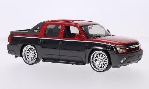 chevrolet-avalanche-low-rider-tuning-2002-red-black-124-welly