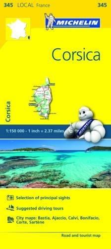 Michelin FRANCE Corsica Map 345 (Maps/Local (Michelin)) [Michelin] (Tapa Blanda)