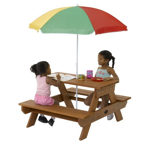 Plum Products Children's Rectangular Picnic Table with Parasol
