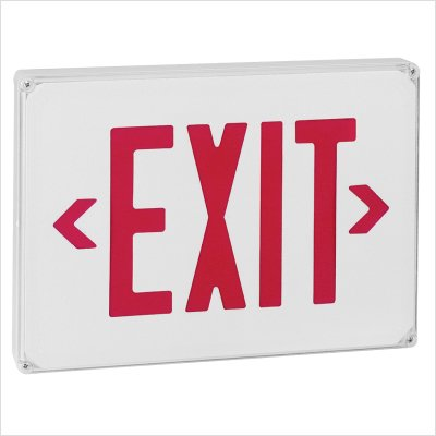 Royal Pacific Rxl23Wr-E Wet Location Exit Sign, White With Red Letters