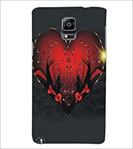 PrintDhaba Heart D-5122 Back Case Cover for SAMSUNG GALAXY NOTE 3 (Multi-Coloured)