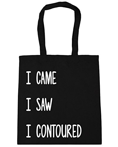 hippowarehouse-i-came-i-saw-i-contoured-tote-shopping-gym-beach-bag-42cm-x38cm-10-litres