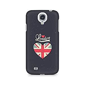 Motivatebox- Love London Premium Printed Case For Samsung S4 -Matte Polycarbonate 3D Hard case Mobile Cell Phone Protective BACK CASE COVER. Hard Shockproof Scratch-