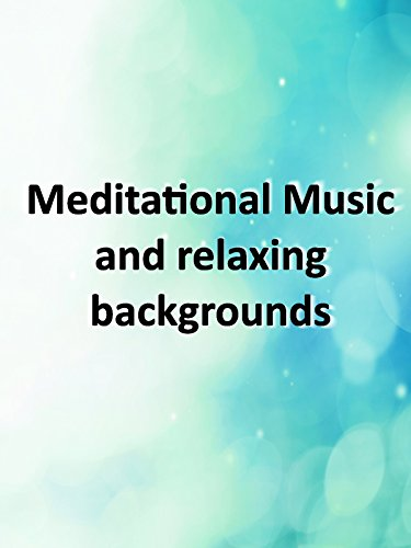 Relaxing blue background with meditational Music