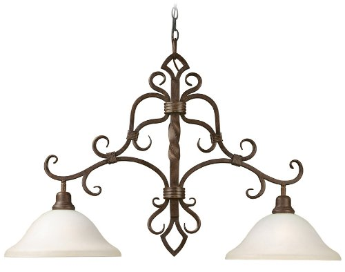 World Imports Lighting 8210-35 Bristol 2-Light Island Fixture, Antique Oak