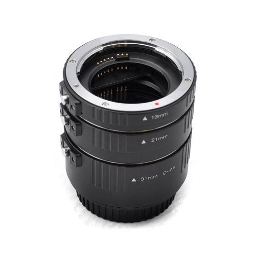 Kaavie -The Finest Aluminum Mount Version (Rugged And Lightweight, Best Option Extended Goal) - Set Automatic Extensions Ring For Canon Eos Ef / Af - * 3 Rooms: 13 Mm, 21 Mm, 31 Mm * Bayonet - Canon Eos Canon Eos 1D C, 1D X, 1D Mark I-Iv, I-1Ds Mark Iii,