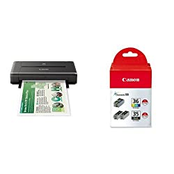CANON PIXMA iP110 Wireless Mobile Printer and Ink Bundle