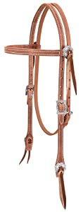 Weaver Leather Stockman Browband Headstall, Russet
