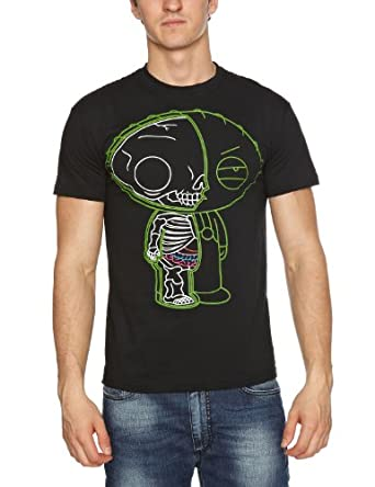 Bravado - Family Guy Stewie Xray - T-Shirt - Homme - Noir (Black) - FR: Small (Taille fabricant: Small)
