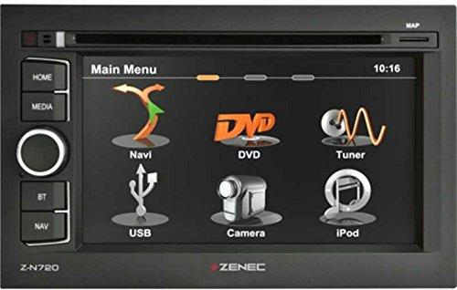 ZENEC-Z-N720-Naviceiver-mit-GPS-Navigation-zur-Nachrstung-Autoradio-UKW-RDS-Tuner-mit-DSP-basierter-Rauschunterdrckung-Navi-SW-iGO-Primo-mit-EU-Karten-f-43-EU-Lnder-62157cm-Touchscreen-CDDVD-Player-Bl