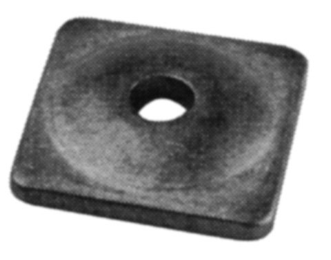 Woodys Aluminum Square Support Plates - - 5/16in. Thread Asw2-3775-b